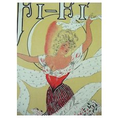 Edwardian Sheet Music 'Fi - Fi' 1904