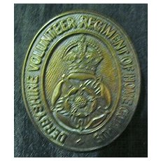 WW1 British Army Badge - Derbyshire Volunteer Regiment of Home Guards