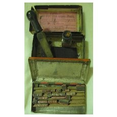 Indian Rubber Stamp Set With  Stamper and Ink Pad