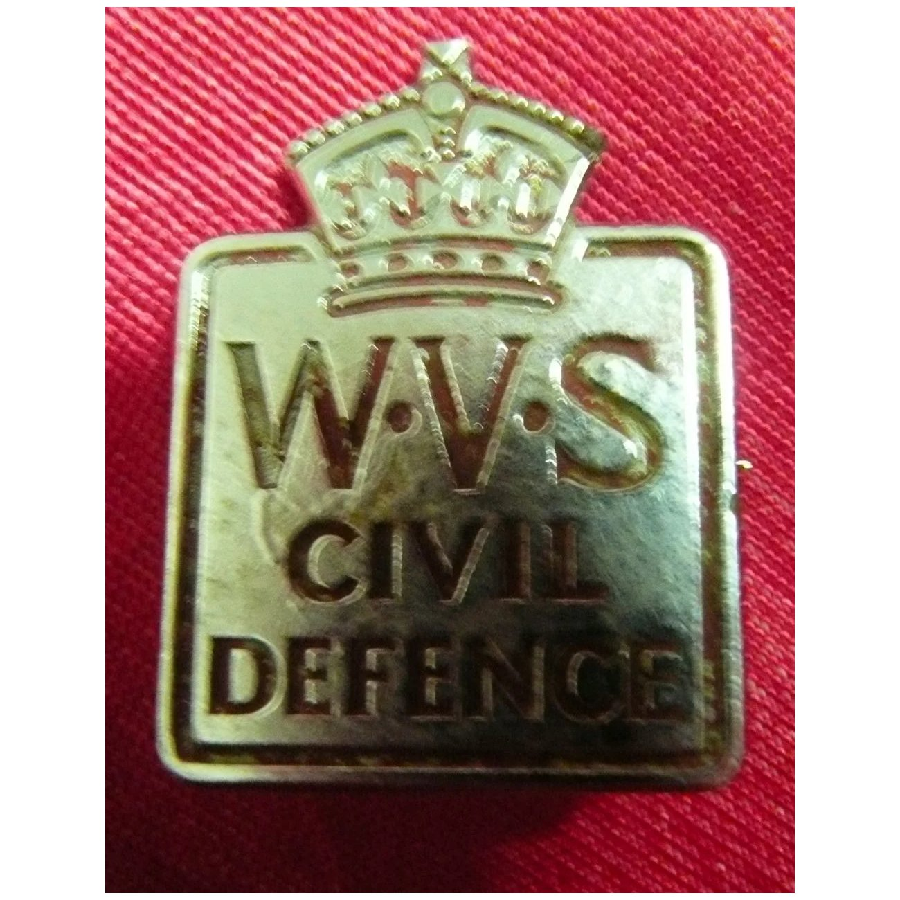 WWII Badge - Women's Voluntary Service for Civil Defense.