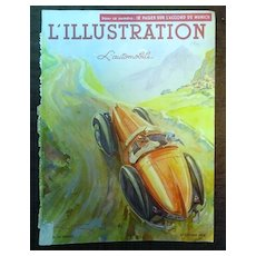 ORIGINAL Front Cover L ' Illustration French Magazine October 1938