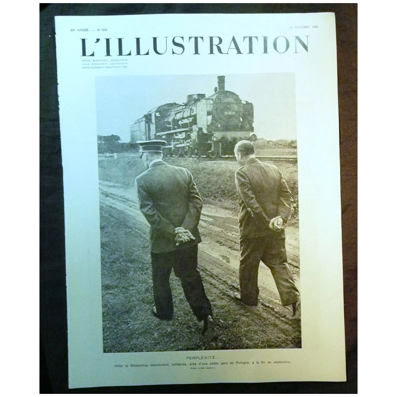 ORIGINAL Feature Page 'Hitler & Ribbentrop from L ' Illustration French Magazine October 1939