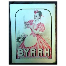 "ORIGINAL ""BYRRH""  Aperitif Advert  From L ' Illustration French Magazine  November 1938"