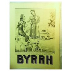 "ORIGINAL ""BYRRH""  Aperitif Advert  From L ' Illustration French Magazine  July 1939"