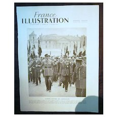 ORIGINAL DE GAULLE  Feature Page' From L ' Illustration French Magazine 1947