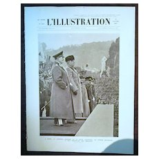 "ORIGINAL Feature Page  "" GOERING & MUSSOLINI"" "" From L ' Illustration French Magazine January1937"