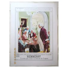 """ORIGINAL """"HENNESSY"""" Advert From  L ' Illustration French Magazine  May 1938"""