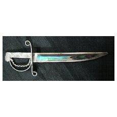 Sterling Silver & Paua Shell Sword Tie-Pin