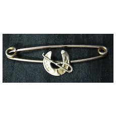 9 Carat Gold Horseshoe Tie Pin / Brooch