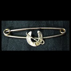 9 Carat Gold Horseshoe Tie Pin / Brooch