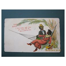 "Black American Postcard "" Under The Bamboo Tree"""