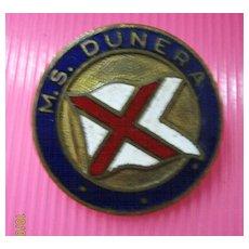 M.S.Dunera Souvenir Badge - British India Line