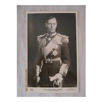 H.R.H. The Duke  of York in Naval Uniform 1937