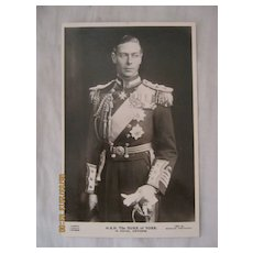 H.R.H. The Duke  of York in Naval Uniform 1937
