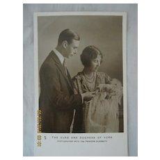 The Duke & Duchess of York With Princess Elizabeth