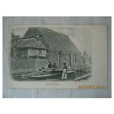Fijian Chiefs House...A.M. Brodziak & co Card -Suva-Fiji