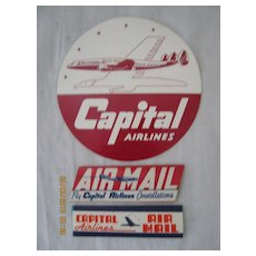 Capital Airlines Stickers-1960's