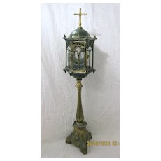 Elegant Early 1900's Brass MONSTRANCE or Custodia
