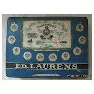"ED LAURENS ""Stella"" Cigarette Tin 1920's"