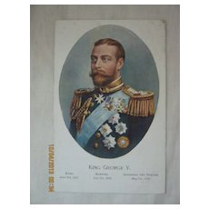 British Royalty Postcard King GEORGE V