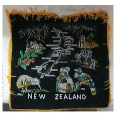 Retro New Zealand Tourism Cushion Cover  - Circa 1970's