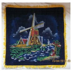 "RETRO 70's ""Holland"" Tourist  Souvenir Cushion Cover"