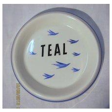 TEAL Airlines Souvenir Dish - Circa 1960