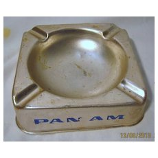 PAN AM Advertising Promotional Ashtray - Circa 1960
