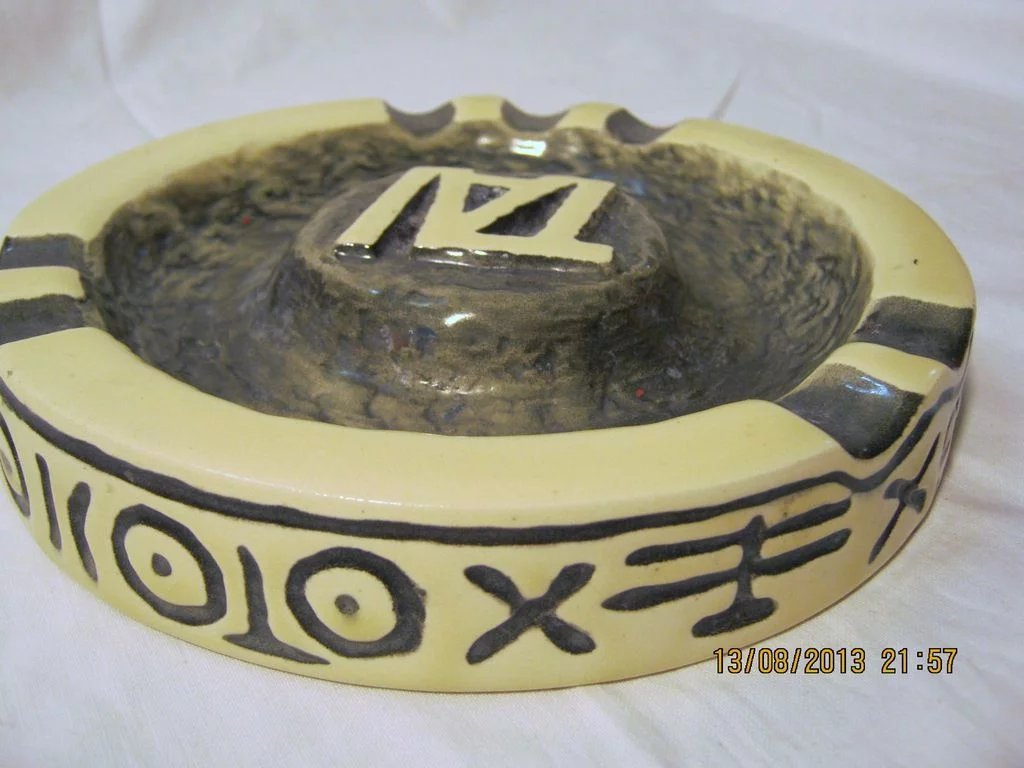 T A I Airlines Advertising Ashtray Circa 1950 S