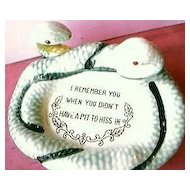 Tongue in Cheek  Humour Fun Snake Ashtray