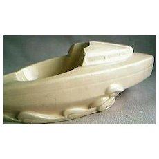 Art Deco Boat Ashtray & Pipe Rest