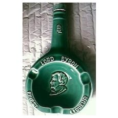 Rare Vintage Lord Byron Liqueur Ashtray Bottle.