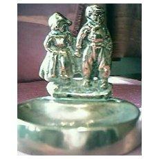 Brass Dutch Children Ashtray