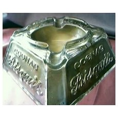 Cognac Bisquit Advertising Ashtray Circa 1920's
