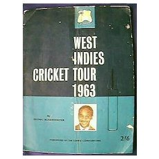 West Indies Cricket Team Tour of England 1963 Program