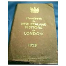 1939 New Zealand Visitors To London Handbook