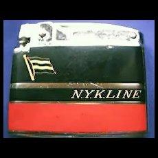 N.Y.K. LINE  1950's Advertising Lighter