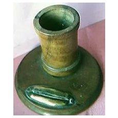 Vintage Walnut & Brass Vesta Striker Circa 1890