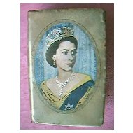 Queen Elizabeth11 Celluloid Matchbox Cover