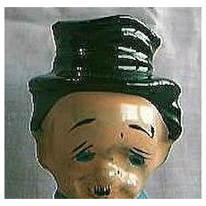 Old Man In Top Hat Bottle Stopper