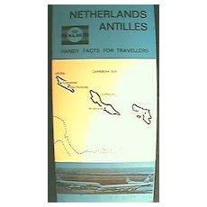 KLM Airlines Advertising Booklet for Netherlands Antilles