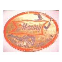 Vintage Mercury American Airlines Advertising Baggage Sticker
