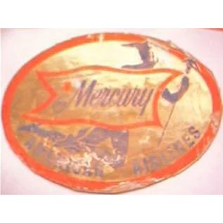 American Airlines  Mercury  50/'s  Vintage-Looking Travel Sticker Luggage Label