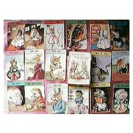 "Vintage Child's Playing Cards ""Woodland Happy Families"" Circa 1950's"
