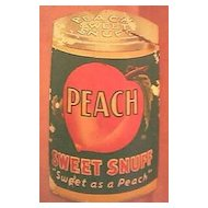 """Vintage Tobacco Advertising Booklet for """"Peach Snuff"""" Circa 1930's"""