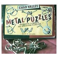 Vintage Chad Valley Metal Puzzles Circa 1950's