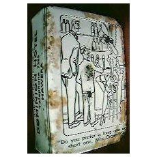 Vintage Risque Humour Advertising Match Box Holder Circa 1940's