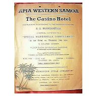 S.S. Wanganella Dinner Dance at The Casino Hotel, Apia, Circa 1950's.