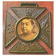 Antique Queen Victoria 50 Years Rule Commemorative Pendant