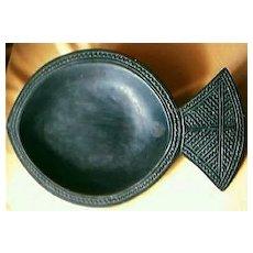 Vintage Fijian Islands Hardwood Food Dish